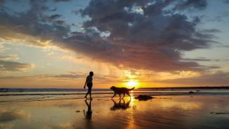 A Man and His Dog - Photo by Josh Utley